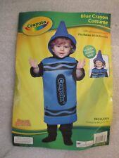 Toddler Girl Boy Halloween Costume Crayola BLUE Crayon Hat Foam Sz 18-24 Months