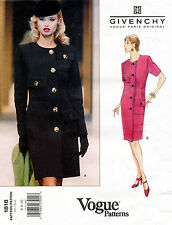 VOGUE Paris Original Misses' Petite Dress Givenchy Pattern 1818  6-10 UNCUT