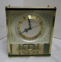 50er 60er Jahre Zentra Kaminuhr PendeluhrUhr mechanisch Messing clock 50s