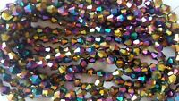 Joblot of 10 strings Rainbow 6mm bicone shape Crystal beads wholesale