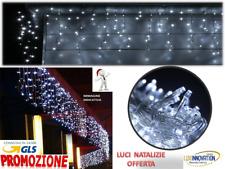 Tenda Luminosa Natalizia NATALE LUCI VARIE MISURE led PROLUNGABILE CASCATA BIANC