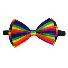 Rainbow Bow Tie Adjustable Pre-tied Clip-on  Bow Tie Necktie Ties