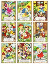 9 Vintage Mother Goose ATC Cards Hang Tags Scrapbooking Paper Crafts (347)