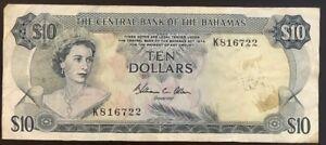 10 Dollars Banknote, Bahamas, 1974