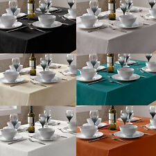 Table cloth Linen Look Plain dye. Choice of Colours & Sizes