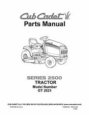 Cub Cadet Parts Manual Model No. GT 2521
