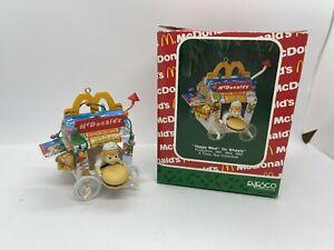 Vintage McDonald's1991 Happy Meal on Wheels Ornament Enesco