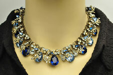 Spectacular Selro Selini Rhinestone Book Chain Necklace and Bracelet