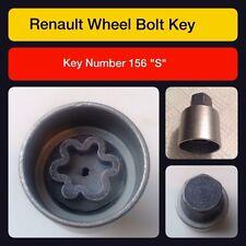 """D'origine Renault Écrou Verrouillage Roue / Key 156 """"S"""""""