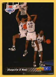 1992 Upper Deck Trade Card Shaquille O'Neal ROOKIE RC #1b SL3