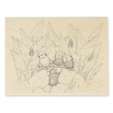 HOUSE MOUSE RUBBER STAMPS POND SONG NEW wood STAMP