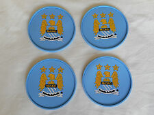 4 x Man City Coasters - 4 Manchester City Rubber Coasters -Ideal Football Gift