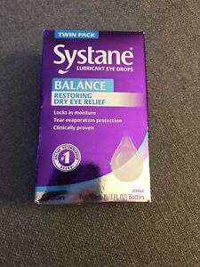 New Systane Balance Restoring Dry Eye Relief Drops 2-10ml Bottles Exp:05/2021+