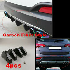 4 Pieces PVC Rear Bumper Diffuser Shark Fin Universal For Car SUV Accessories