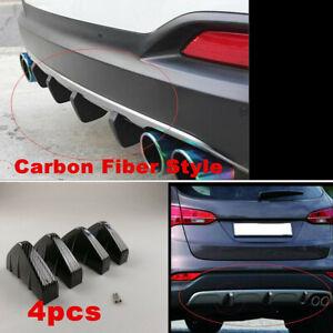 4 Pieces PVC Rear Bumper Diffuser Shark Fin Universal For Car SUV Accessories