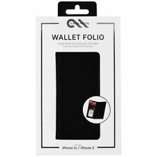 CaseMate Wallet Card Folio Leather Case for iPhone X & iPhone XS Black New