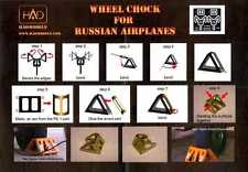 Hungarian Aero Decals 1/48 PHOTO ETCH WHEEL CHOCKS FOR RUSSIAN AIRCRAFT