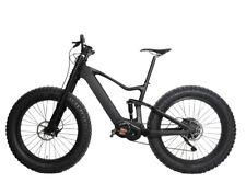 """18"""" Carbon Fat Bike Electric Bicycle 28mph Ebike Bafang SRAM Suspension 26er 48V"""