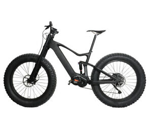 "20"" Carbon Fat Bike 9s Electric Bicycle Ebike Bafang M620 SRAM Suspension 26er"