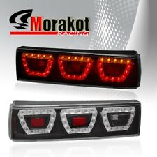 Ford Mustang 87-93 1 Piece LED Left/Right Rear Brake Signal Tail Lights Black