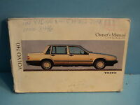 91 1991 Volvo 740 owners manual