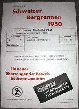 ORIGINAL 1950 SCHWEIZER BERGRENNEN STUCK CRANS SIERRE OLDTIMER