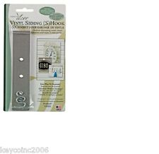 Outdoor Decor VSH06 2 Pack Vinyl Siding S Hook STAINLESS STEEL MADE IN USA