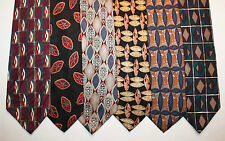 NEW Lot of 6 Designer Neck Ties w Geometric Patterns, Pierre Cardin & more L015