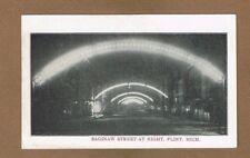 Flint,MI Michigan Saginaw Street at Night