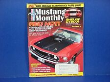 Mustang Monthly,July 2005,Red Hot Cobra Jet Shelby Boss Value Shelby GT500 M2395