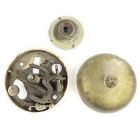 Antique Mechanical Brass Doorbell Complete