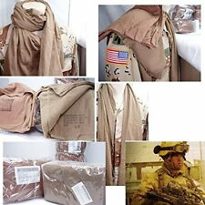 2 Usmc Neckerchiefs Cotton Knit Coyote Brown Usgi Headwrap Marine Scarf Usa Made