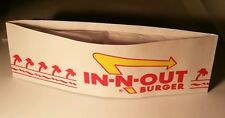 "15 BRAND NEW IN -N -OUT BURGER Paper hats. 11"" X 3"". Hollywood Fast Food. Fun."
