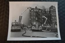 Vintage 1963 Photo Chicago Fire Dept Pirsch Ladder Truck Mercy Hospital 875