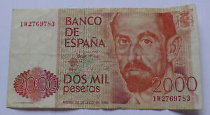Spain 2000 Pesetas 1980 Banknote