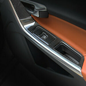 Carbon Fiber Car Door Armrest Panel Decoration Cover Trim For Volvo V60 S60 XC60