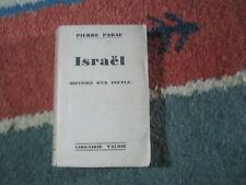 Pierre PARAF: Israël histoire d'un peuple