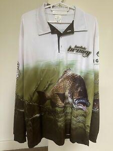 Mens BIGFISH Long Sleeve Fishing Shirt NWOT