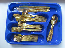 GOLDEN SPRING GARDEN by International Rogers Cutlery Flatware Set 52 Pieces