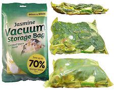 1 Large Jasmine Scented Vacuum Storage Space Saving Bag Vac,Space Saver Bag