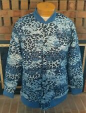 The North Face Anna Insulated Jacket Women's Dish Blue Leopard Print Large New