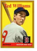 Ted Williams 2019 Topps Archives 5x7 Gold #24 /10 Red Sox