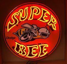 "New Super Bee Car Auto Dealer Beer Shop Open Bar Neon Light Sign 24""x24"""