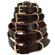 Soft Genuine Leather Rolled Dog Collar Training Collar for Labrador  Rottweiler