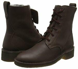 CLARKS ORIGINALS MARU ELSA  BROWN LEATHER BOOTS DESERT ANKLE BIKER boots