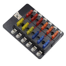 Blade Fuse Box Holder LED Warning Indicator Damp-Proof Cover for Car Boat