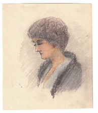 COLORED PASTEL DRAWING BY JEAN BAPTISTE EUGENE CORBIN, 1867-1952 !!