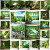 Forest Nature Tapestry New Room Wall Hanging Art Tree Landscape Tapestries Decor