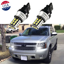 2x 3157 3156 White 15-SMD LED Bulbs Daytime Running Lights DRL for Chevrolet