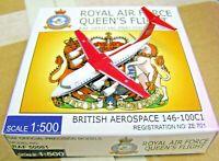 Herpa Wings 1:500 RAF50001 RAF Royal Air Force Queen's Flight BAe-146 ZE-701